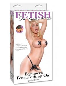 Женский тонкий страпон Beginners Penetrix Strap-on - 15 см.