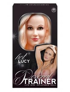 Надувная кукла с вибрацией и 2 любовными отверстиями Hot Lucy Lifesize Love Doll