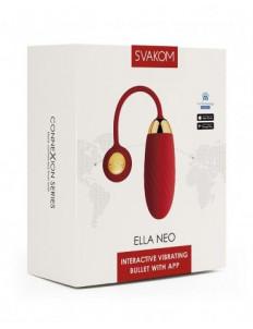 Красное интерактивное виброяйцо Ella Neo