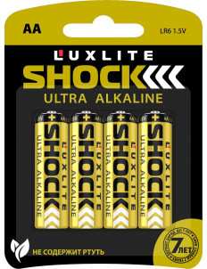 Батарейки Luxlite Shock (GOLD) типа АА - 4 шт.