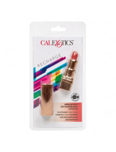Золотистый вибратор-помада с красным мягким кончиком Hide   Play Rechargeable Lipstick