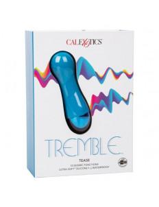 Голубой мини-вибратор Tremble Tease - 12 см.