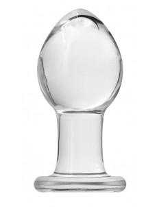 Прозрачная анальная пробка Crystal Medium - 7,6 см.