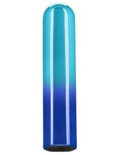 Голубой гладкий мини-вибромассажер Glam Vibe - 9 см.