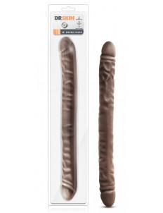Коричневый двусторонний фаллоимитатор 18 Inch Double Dildo - 45,7 см.