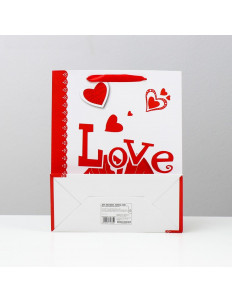 Бумажный пакет «Любовь» - 26 х 32 см.