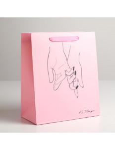 Бумажный пакет I LOVE YOU - 23 х 27 см.