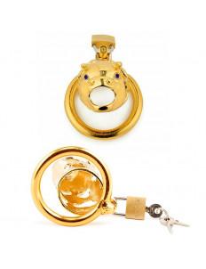 Золотистый сувенирный пояс верности в виде быка