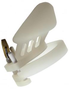 Белый силиконовый пояс верности с замочком