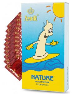 Классические презервативы AMOR Nature  Яркая линия  - 10 шт.
