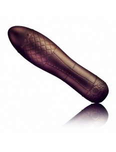 Вибромассажер с металлическим блеском Zeppelina - 18 см.