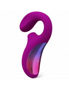 Фиолетовый вакуумный стимулятор ENIGMA с отростком