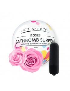 Бомбочка для ванны Bath Bomb Surprise Rose + вибропуля