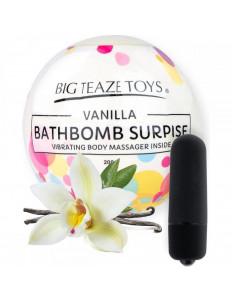 Бомбочка для ванны Bath Bomb Surprise Vanilla + вибропуля