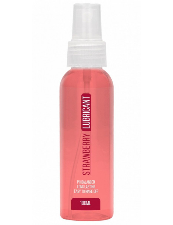 Лубрикант на водной основе с ароматом клубники Strawberry Lubricant - 100 мл.