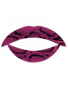 Lip Tattoo Фиолетовая змея