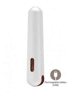Гладкий вибромассажер Miki - 16,2 см.