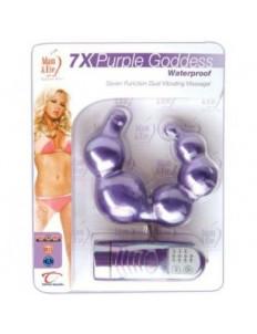 Двусторонний фиолетовый вибромассажёр Purple Goddess