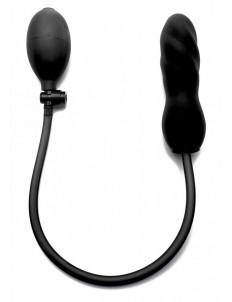 Чёрный анальный фаллоимитатор с грушей OUCH! - 16 см.