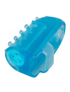 Голубая насадка на палец с вибрацией One-time Finger Vibrator