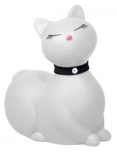 Белый массажёр-кошка I Rub My Kitty с вибрацией