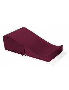 Бордовая подушка для любви Liberator Flip Ramp с чехлом из вельвета