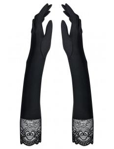 Длинные перчатки Miamor с кружевной оторочкой